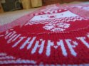 Image of jacquard knitted custom football scarf