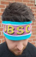 Image of jacquard knitted headband - promote your football team or event.