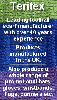 Image displaying text informing that Teritex is the leading supplier of custom football scarves